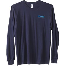 KAVU Etch Art LS T-Shirt Herre navy
